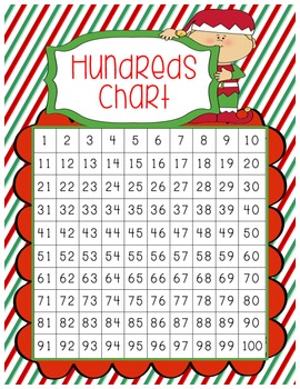 Winter Themed Hundreds Charts