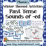 Sounds of -ed - Past Tense Winter Themed Bundle