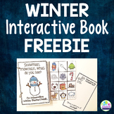 Winter Themed Interactive Book - Free Winter Speech Therapy Activity