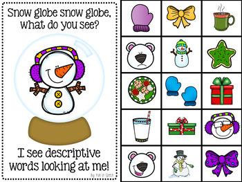 Winter Themed Interactive Book for Describing