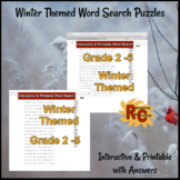 Winter Themed Interactive Word Search Puzzles 2nd-5th