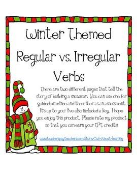 Winter Themed Irregular vs. Regular Verbs