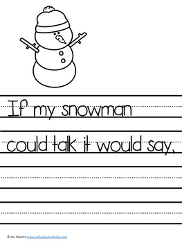 Winter Themed Journal Prompts and Story Starters