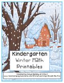 Winter Themed Kindergarten Math Printables