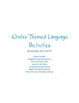 Winter Themed Language Activities