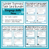 Winter Themed Language Task Cards Bundle