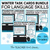 Winter Themed Language Task Cards Bundle