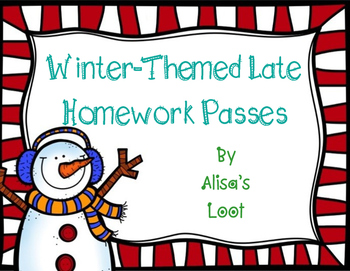 Winter-Themed Late Homework Pass