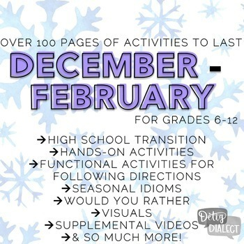 Winter Themed Lessons & Activities for Older Students