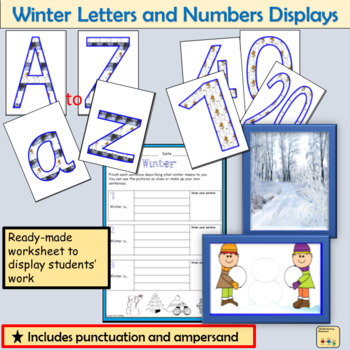 Winter-Themed Letters Numbers Display  Punctuation symbols Winter Photos