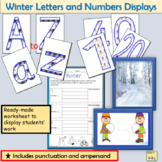 Winter-Themed Lettering Numbers Display  Punctuation, Math Signs Winter Photos