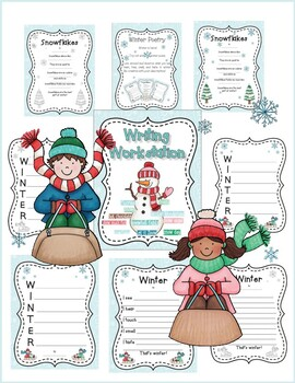 Winter Themed Literacy Centers for Second and Third Grade