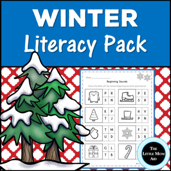 Winter Literacy Activities Pack for Preschool and Kindergarten
