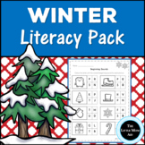 Winter Literacy Activities and Worksheets for Preschool an