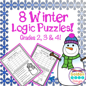 Winter Themed Logic Puzzles Grades 2, 3 & 4 Critical Thinking