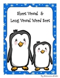 Winter Themed Long Vowel Short Vowel Word Sort with Record