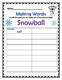 Winter Themed Making Words!