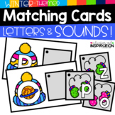Winter-Themed Matching Cards for Letters and Sounds