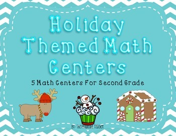Winter Themed Math Centers for Second Grade
