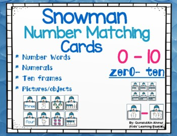 Winter Themed Math Flash Cards (numbers 0 to 10)