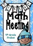 Winter Themed Math Meeting Headers