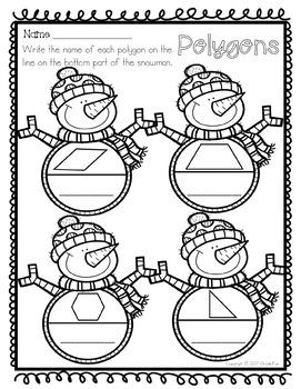 Winter Themed Math Practice Bundle