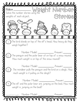 Winter Themed Math Practice Pages