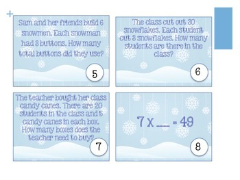 Winter Themed Math Scoot/ Task Cards