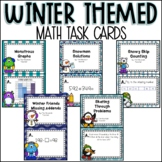 Winter Themed Math Task Cards (Second Grade)