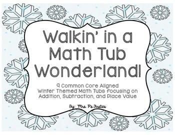 Winter Themed Math Tubs