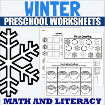 Winter Themed Math and ELA Centers and Activities for PreK and Kindergarten
