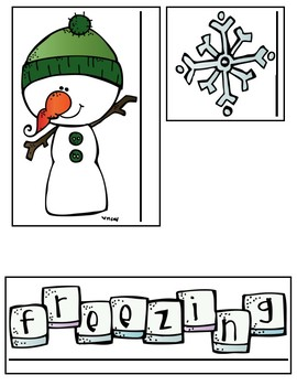 Winter Themed Measurement Task Cards (inches, centimeters, & length difference)