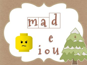 Winter Themed Middle Vowel Sounds Game for Smartboard or Promethean Board!
