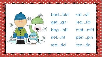 Winter-Themed Minimal Pair Reading