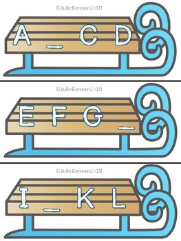 Winter Themed Missing Letters