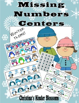 Winter Themed Missing Number Center