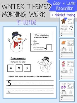 Christmas Color & Letter Recognition + Alphabet Practice