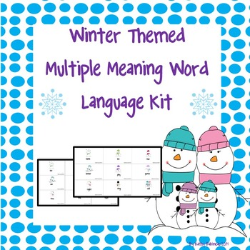 Winter Themed Multiple Meaning Word Language Kit