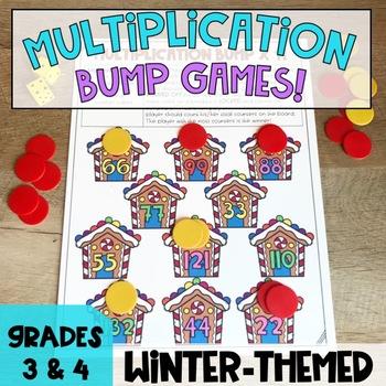 Winter Math Center Multiplication Games