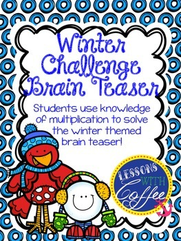 Winter Themed Multiplication Brain Teaser