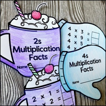 Winter Math Multiplication Facts Practice Books