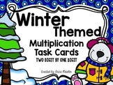 Multiplication Task Cards - 2 digit by 1 digit {Winter Themed}