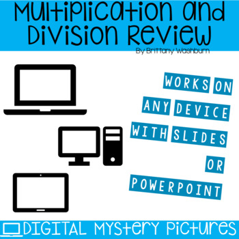 Winter Themed Multiplication and Division Practice DIGITAL Mystery Pictures