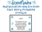 Winter Themed Multiplication and Division Word Problem Task Cards FREE PREVIEW