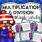 Multplication and Division Task Cards | Winter Themed