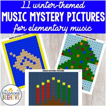 Winter-Themed Music Mystery Pictures