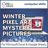 Winter Themed Mystery Pictures for Excel and Google Sheets