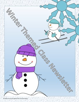 Winter Themed Newsletter