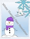 Winter Themed Newsletter