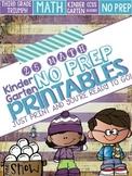 Winter Themed No Prep Kindergarten Math Printables